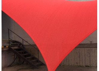 Voile d'ombrage Commercial 95 Rouge
