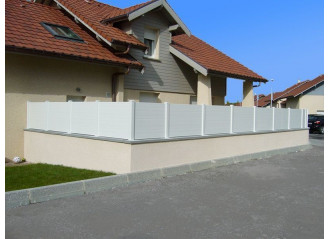 Pose sur muret clôture modèle Lanister