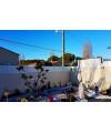 Clôture brise vue PVC Lanister blanc