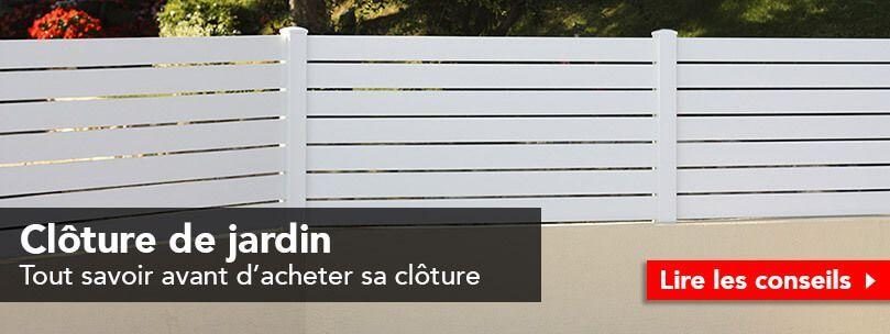 Conseils clôture de jardin