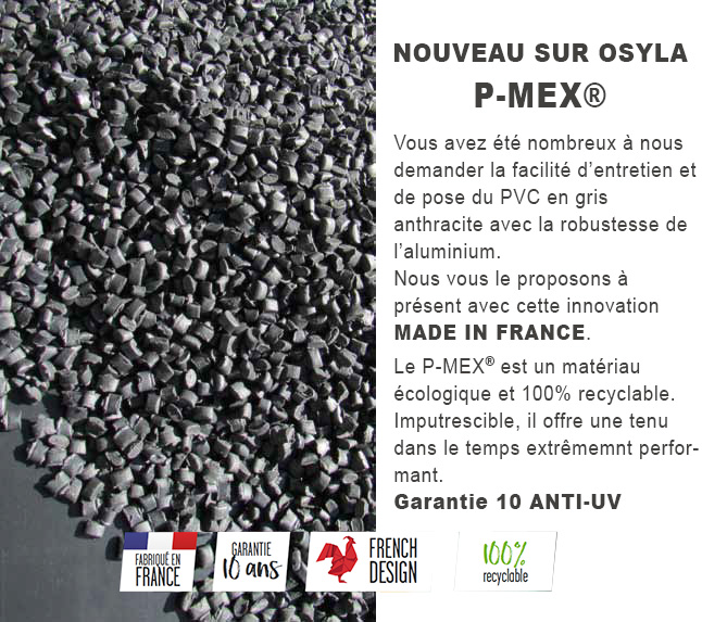 cloture pvc gris anthracite p-mex