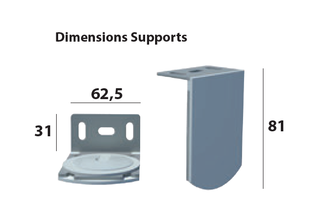platines fixations dimensions
