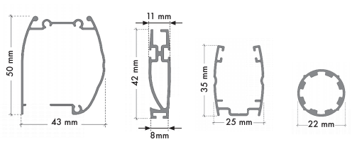 Dimensions des pièces moustiquaire