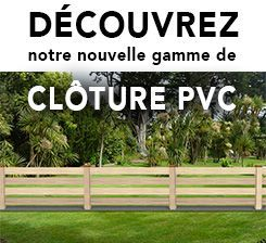 Pub cloture pvc